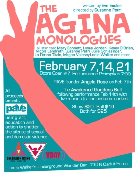 Vagina Monologues CARD