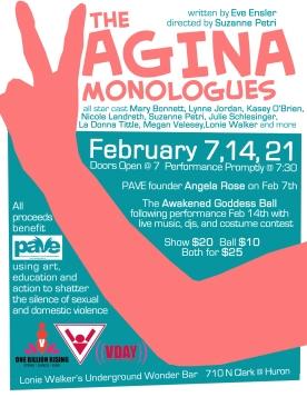 Vagina Monologues CARD